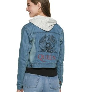 🎸Queen Official Merch Band Denim Hoodie Size S